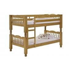 Milano Spindle Bunk Bed In Solid Pine Finished In Antique - Milano bunk bed