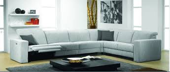 Modern Reclining Sectional Sofas Artemis Fabric Sectional Sofa With Electric Recliner By Rom