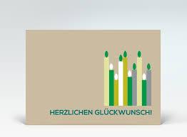 geburtstagskarten design geburtstagskarte postkarte grüne geburtstagskerzen auf beige