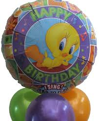singing balloons delivery singing balloons helium balloons perth tweety bird happy
