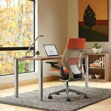 Steelcase Computer Desk Ideas Wonderful Steelcase Leap Chair On Gray Shag Rugs And