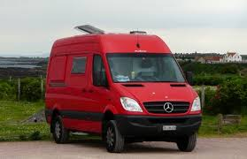 mercedes sprinter rv conversion the big plan visiting fife st scotland 2010