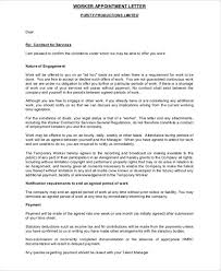 5 temporary appointment letter templates free word pdf format