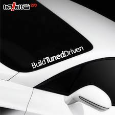 modified toyota sunvisor windshield sticker infinity270