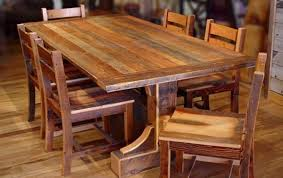 Large Rustic Dining Room Table Rustic Round Dining Room Tables - Unique kitchen table sets