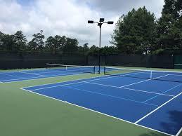 tennis courts with lights near me tennis court resurfacing raleigh americourt inc