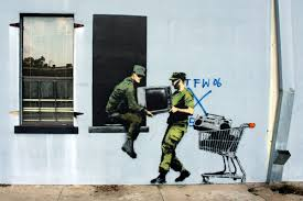 banksy restored post katrina mural brought back to life in this mural attributed to banksy was photographed aug 26 2008 on the wall of a building at 501 elysian fields