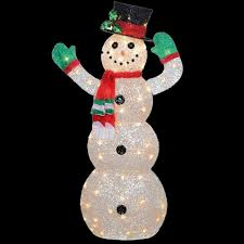 outdoor christmas ornaments outdoor christmas decor crystal snowman 48