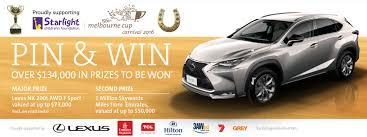 lexus in melbourne melbourne cup carnival 2016 pin u0026 win promotion