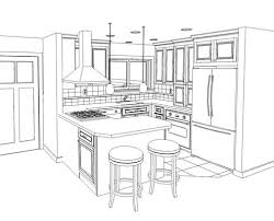 Kitchen Design Drawings Kitchen Pencil Sketches Search