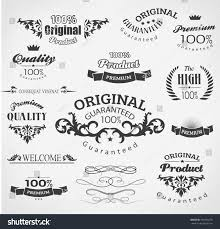 vintage calligraphy decoration design elements stock vector
