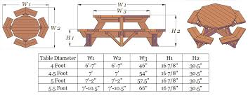 hexagon picnic table plans dining table