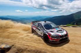 subaru rally racing travis pastrana sets mount washington hillclimb record in rally