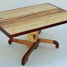 Coffee Table Pedestal Custom Made Forklift Pallet Pedestal Coffee Table By Allan