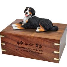urns for dogs wholesale pet cremation wood urns bernese mountain dog laying