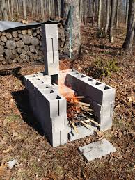 Chimney Style Fire Pit by Home Design Cinder Block Fire Pit Grill Flooring Decorators