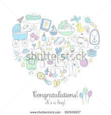 care baby shower set baby shower design vector illustration stock vector 302939837