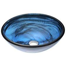 blue vessel sinks bathroom sinks the home depot