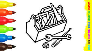 construction tools coloring pages kids fun art activities coloring
