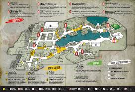 halloween horror nights map 2010 universal studios orlando
