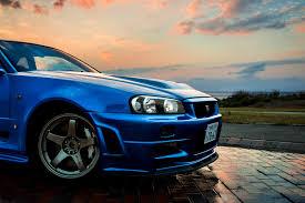 nissan blue car nissan nissan skyline gt r r34 car blue jdm wallpapers hd