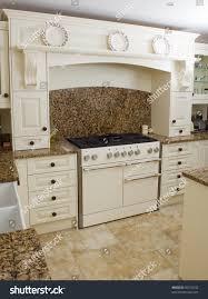 range style cooker modern kitchen interior stock photo 50310532 range style cooker in a modern kitchen interior with granite worktop and cream units