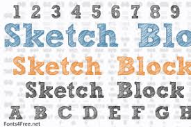 sketch block font download fonts4free