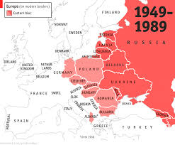 Eastern Europe Map Map Showing Unified Germany And The Ussr Existing At Same Time For