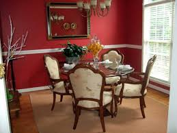 red dining room wall decor like the lighting fixture with the red