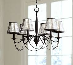 chandelier shades antique mercury glass chandelier shade set of 3 pottery barn