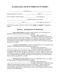 How To Write A Power Of Attorney Letter Sample by Free Alaska Real Estate Power Of Attorney Form Pdf Word