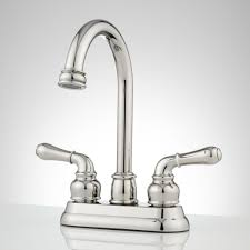 bathroom single hole brushed nickel bathroom faucet with glass