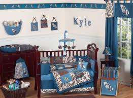 Blue And Green Crib Bedding Sets Surf Blue And Brown Crib Bedding Collection