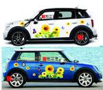 Aliexpress.com : Buy Auto car stickers mini car stickers sunflower ...