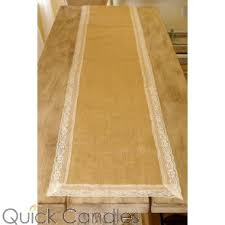 Burlap Lace Table Runner Table Runners Table Linens