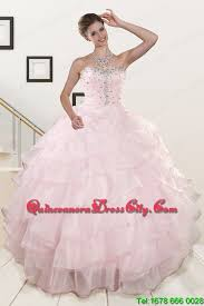 light pink quinceanera dresses 2015 baby pink quinceanera dresses with beading and ruffles