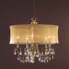 modern glam shaded crystal ceiling light 3 light shades of light