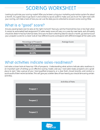 Roi Worksheet How To Optimize Your Automated Lead Scoring Model Worksheet