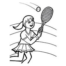 25 free printable tennis coloring pages