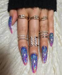 and another pic galaxy holo press on nails by tres she i have