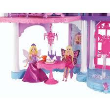 barbie mariposa fairy princess castle playset mini