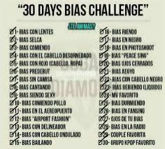Challenge Que Es 30 Días Bias Challenge K Pop Amino