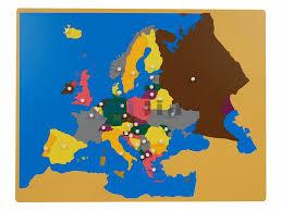 World Map Puzzle by Montessori Toy Montessori Europe Puzzle Maps Buy Montessori