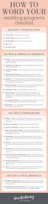 wedding program wording ideas weight loss checklist checklists wedding program wording ideas
