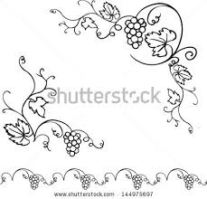 free decorative grape vines vector frame free vector