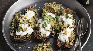 cuisiner le boulgour aubergines farcies végétariennes au boulgour et yaourt