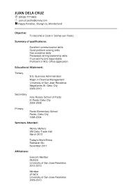 chronological resume exle exle of a chronological resume objectives sles luxury