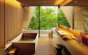 Japanese Bathroom Ideas Stunning Japanese Bathroom Design With Large Glass Windows And