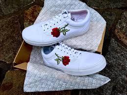 white roses for sale sale all white roses custom vans