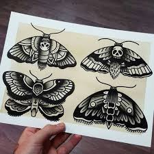 50 best moth traditional tattoo flash images on pinterest